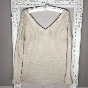 GUESS Off-shoulder Oversize Chunky Sweater